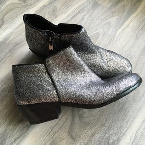 Sam edelman silver booties 6 new